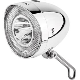 XLC LED Retro Faretto a batteria per tutte le biciclette, argento